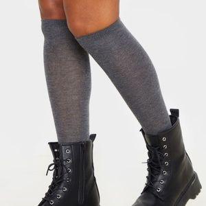 NWOT Grey over the knee knit socks.